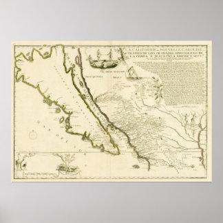 Carte montrant la Californie comme île, 1720