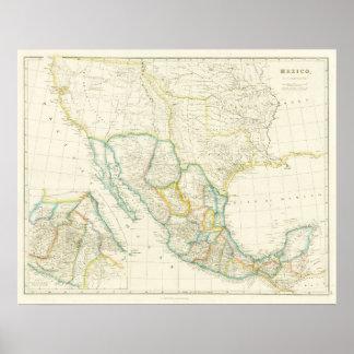 Carte montrant le Texas comme République