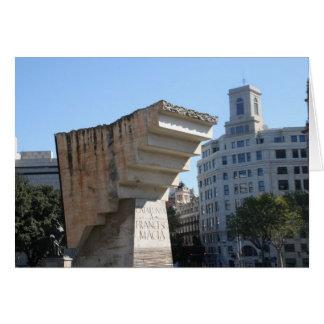 Carte Monument de Francesc Macià, Barcelone