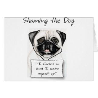 Carte Mortifiant le carlin de chien