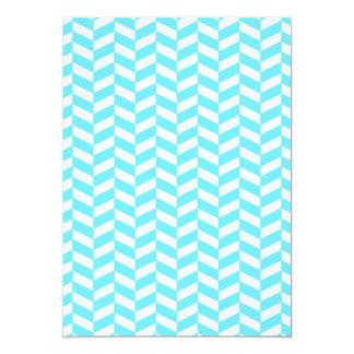 Carte Motif bleu lumineux blanc en arête de poisson de