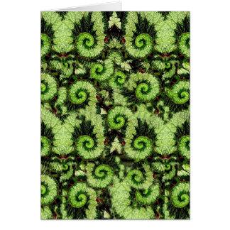 Carte Motif de feuille de bégonia d'escargot par Sharles