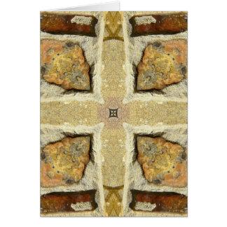 Carte Motif de kaléidoscope de mur en pierre