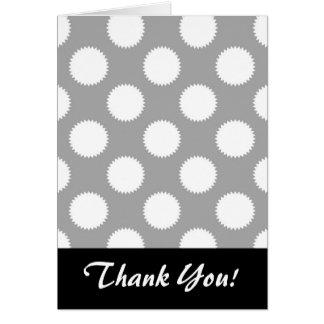 Carte Motif de point gris et blanc de polka