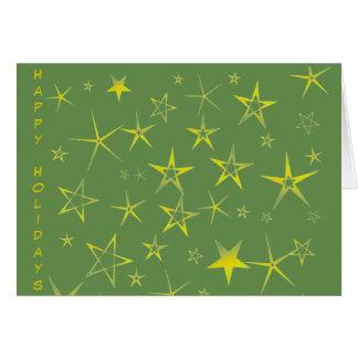 Carte Motif de vacances d'étoile d'or