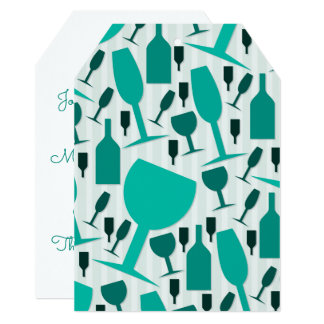 Carte Motif en verre de vin