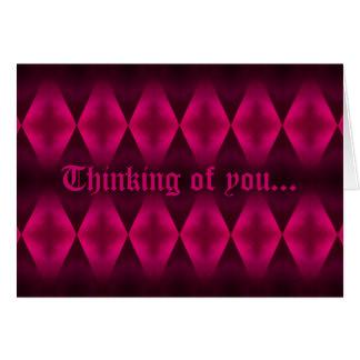 Carte Motif punk de diamant de roses indien