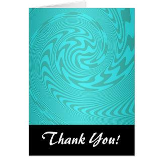 Carte Motif turquoise abstrait de turquoise