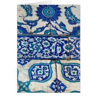 Carte Motifs bleus et blancs d'iznik vintage classique