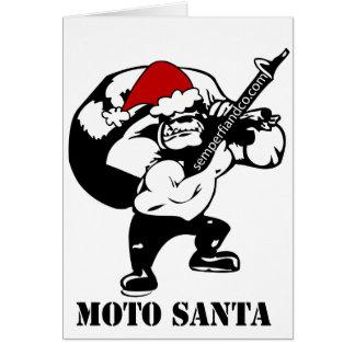 Carte moto père Noël
