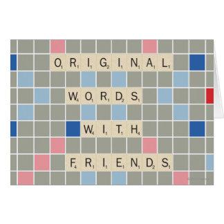 Carte Mots originaux avec des amis