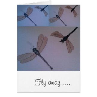 Carte Mouche de libellules… loin