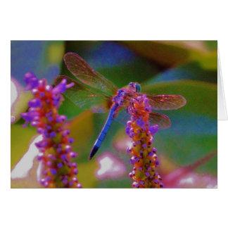 Carte Mouche fuchsia de fleur et de dragon