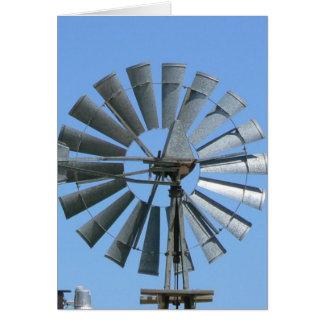 Carte Moulin à vent de jour venteux