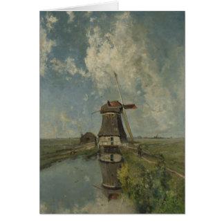 Carte Moulin à vent néerlandais sur la voie d'eau Paul