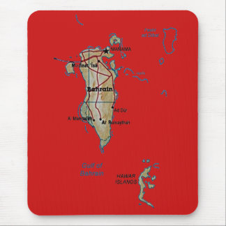 Carte Mousepad du Bahrain Tapis De Souris