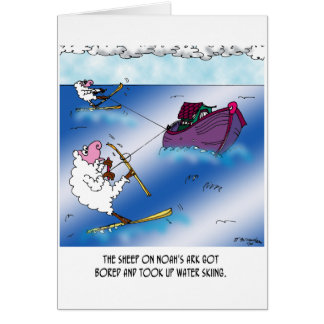 Carte Moutons sur le ski d'eau d'arche