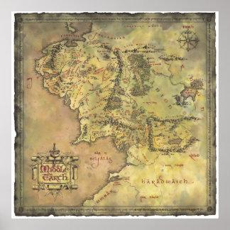 Carte moyenne de la terre