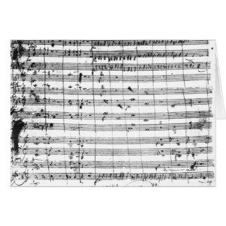 Carte Ms.1548 Ouverture de l'opéra 'Don Giovanni