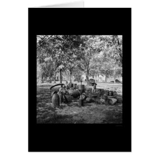 Carte Munitions confédérées à Charleston 1865