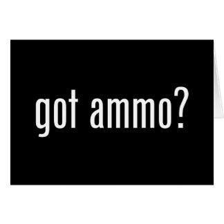 Carte munitions obtenues ?