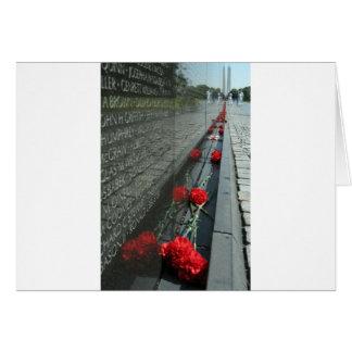 Carte Mur de mémorial de vétérans du Vietnam
