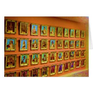 Carte Mur des portraits des Reines justes d'état,
