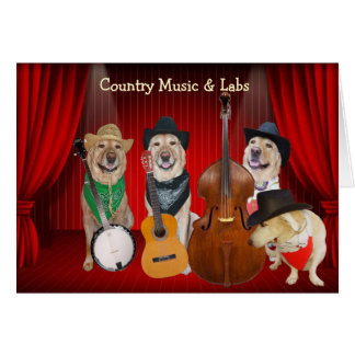 Carte Musique country et anniversaire personnalisable de