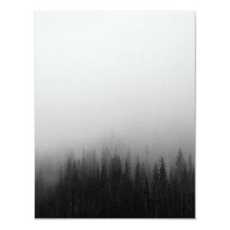 Carte Mystique brumeux de scène de paysage de nature de