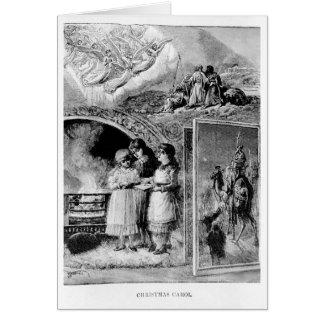 Carte Naissance victorienne de chant de Noël vintage de