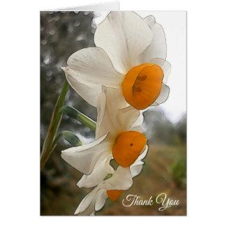 Carte Narcisse. Fleur
