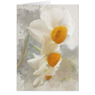Carte Narcisse. Watercolor.