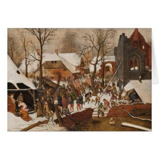 Carte Nativité sainte de la Renaissance