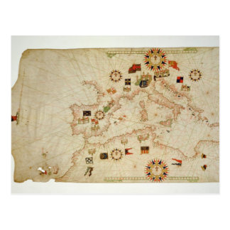 Carte nautique miniature du Mediterranea central