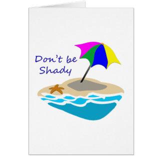 Carte Ne soyez pas parapluie de plage louche