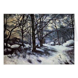 Carte Neige de fonte de Paul Cezanne-. Fontainbleau