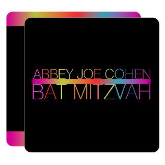 Carte Néons de PixDezines/typographie/bat mitzvah