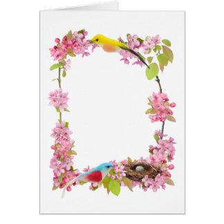 Carte Nid d'oiseaux de fleurs