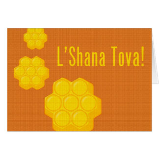 Carte Nids d'abeilles de L'Shana Tova