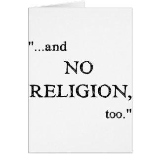 Carte N'imaginez aucune religion