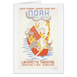 Carte Noé et l'arche WPA 1938