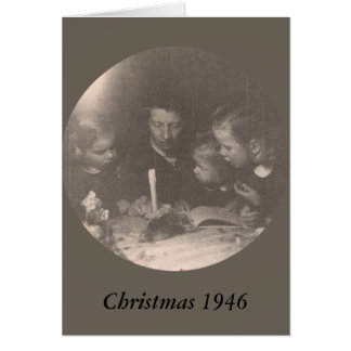 Carte Noël 1946