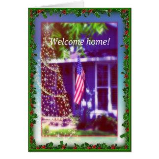 Carte Noël à la maison bienvenu 2011 - militaires