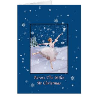 Carte Noël, à travers les milles, ballerine de la Reine
