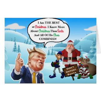 Carte Noël arrogant drôle d'atout