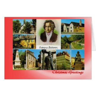 Carte Noël autrichien avec Ludwig van Beethoven