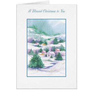 Carte Noël béni à vous