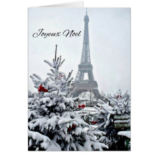 Carte Noël blanc français