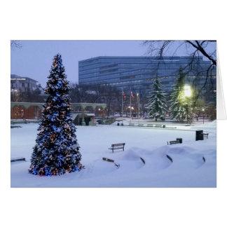Carte Noël bleu, Calgary, Alberta, Canada