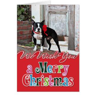 Carte Noël - Boston Terrier - milles